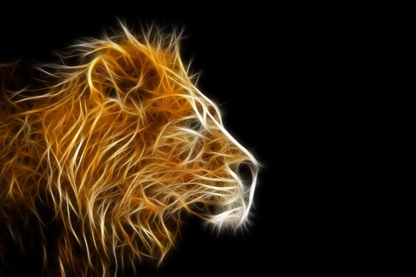 3d animal wallpapers- Lion wallpaper