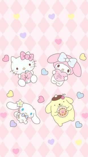 Sanrio Wallpaper, Kitty Wallpaper, Phone Wallpapers, Sanrio Characters, Hello  Kitty, Kawaii, Wallpapers, Kawaii Cute, Wallpaper For Phone
