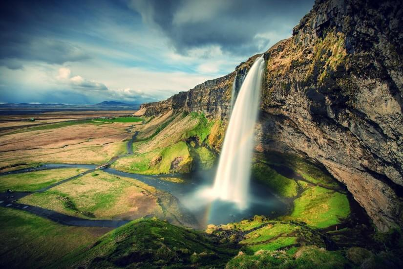 Seljalandsfoss Waterfall On Southcoast OF Iceland Wallpapers.