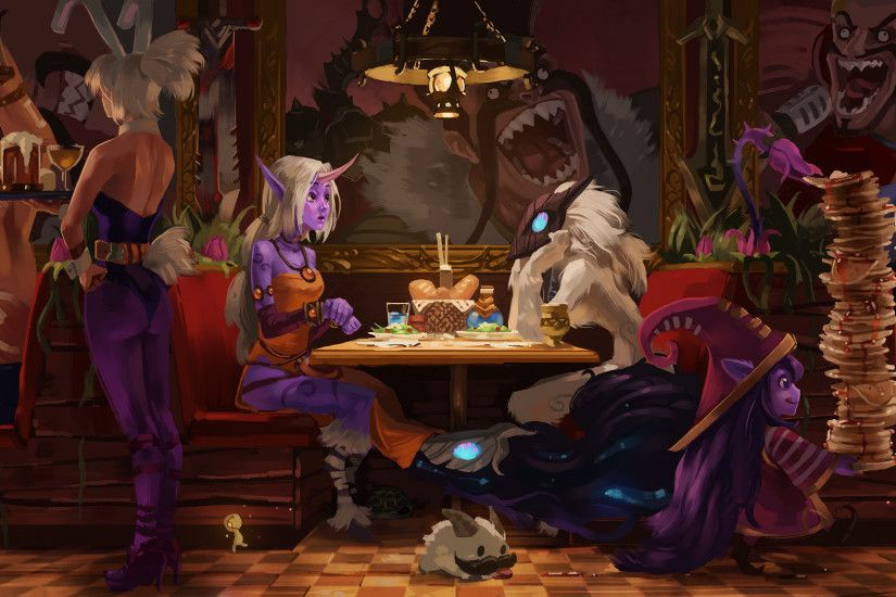 Cafe Draven - Gragas, Braum, Battle Bunny Riven, Soraka, Kindred, Lulu
