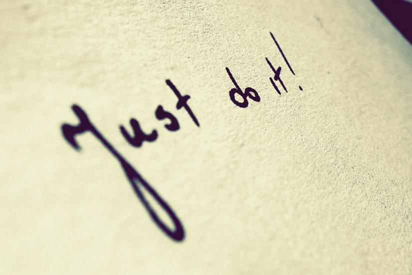 just do it, inscription, motivation, word, quote