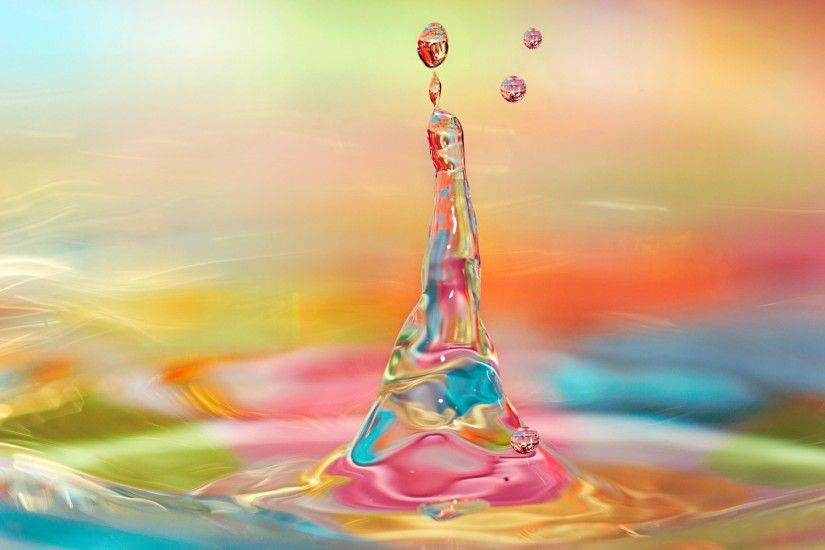 Colorful Water Drops Wallpapers (1)