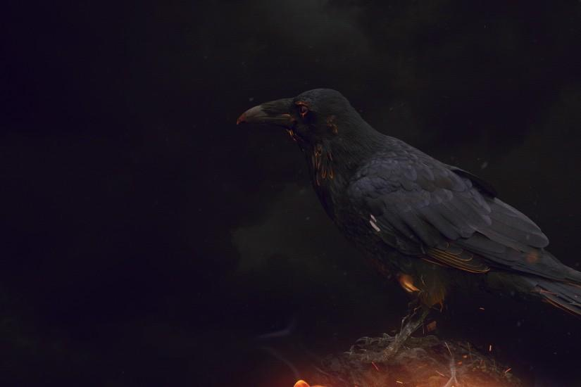 Wallpaper Dark Crow by Nablo92 Wallpaper Dark Crow by Nablo92