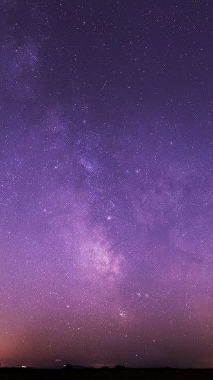 Purple Night Sky Stars Milky Way Android Wallpaper ...