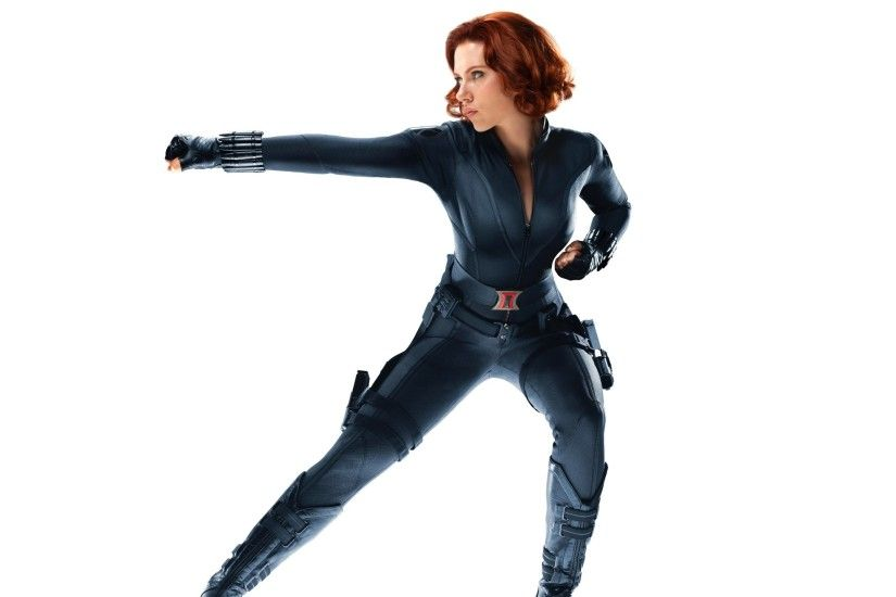 Scarlett Johansson as Black Widow in Avengers Wallpapers