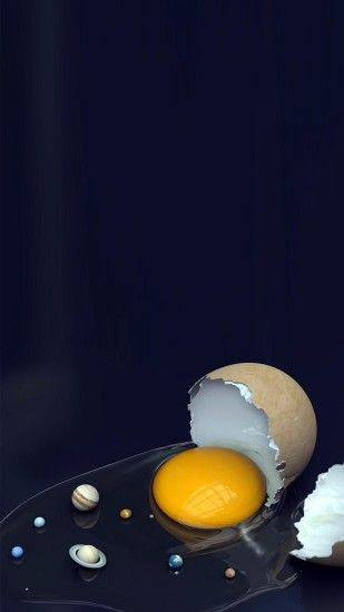 Solar System Broken Egg iPhone 6 wallpaper