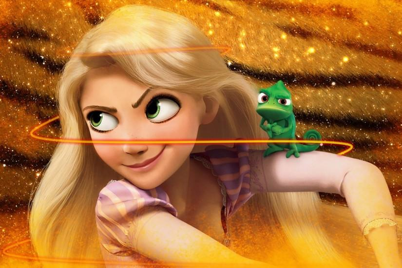 Rapunzel and Pascal - Tangled wallpaper