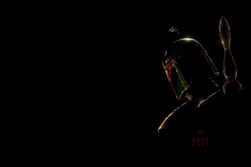 wallpaper Star Wars · silhouettes · Boba Fett