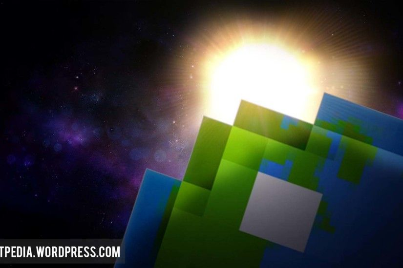 Planet Minecraft Universe Desktop Wallpaper Space Sunshine Earth