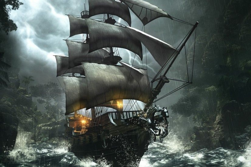 Image for Ghost Pirate Ship Wallpaper Desktop