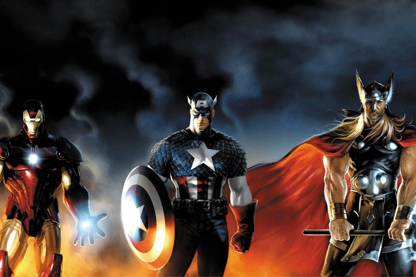 comics, Thor, Captain America, Iron Man Wallpapers HD / Desktop and Mobile  Backgrounds