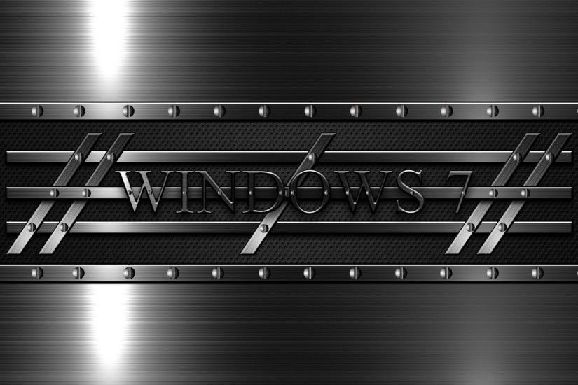 2048x1152 Wallpaper windows 7, 3d, background, black