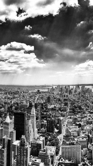 New York City Black And White Android Wallpaper ...