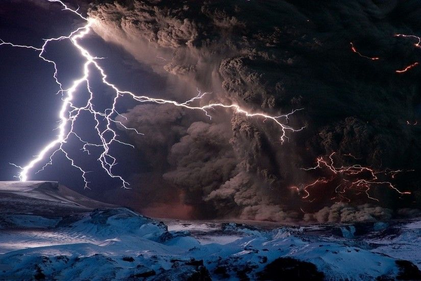... volcano lightning wallpapers ultra high quality wallpapers; lightning  4k hd ...