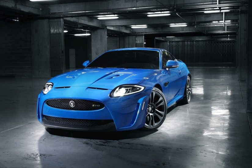 Jaguar blue car wallpaper 1920x1080 Full HD