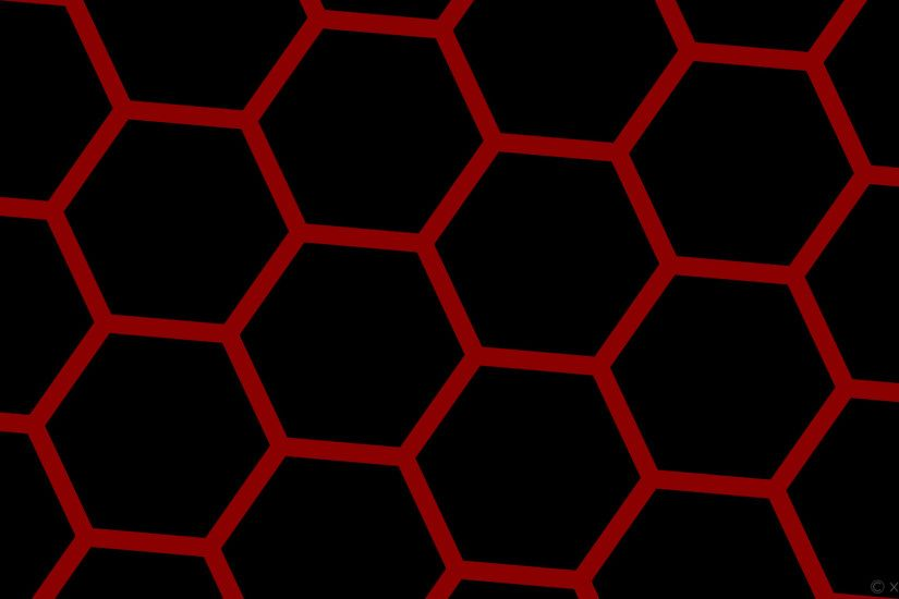 wallpaper beehive honeycomb black red hexagon dark red #000000 #8b0000  diagonal 25° 34px