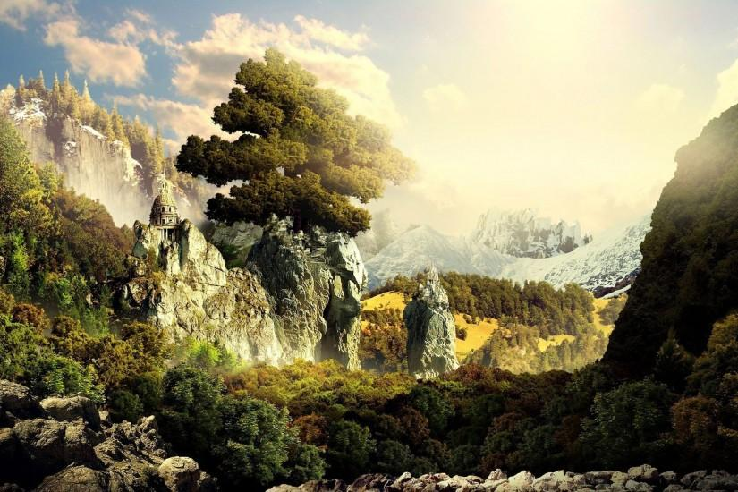 fantasy landscape wallpaper 1920x1200 free download