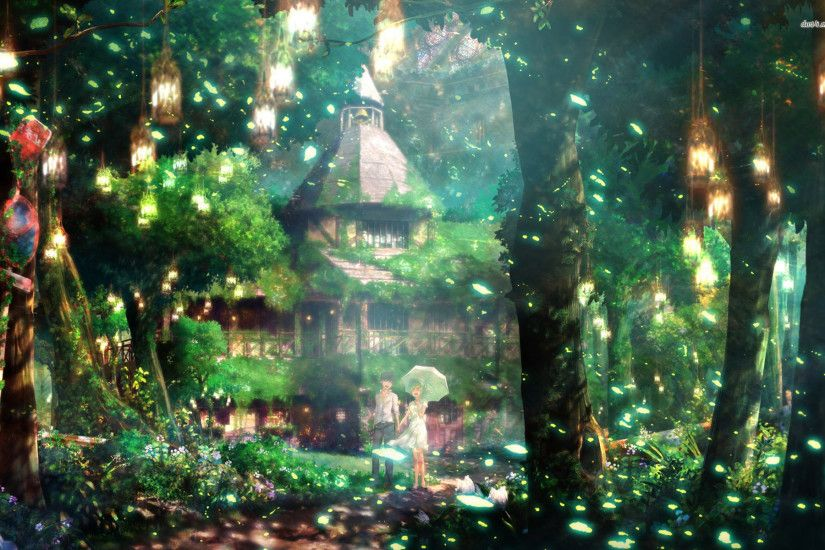 Magical forest Anime HD desktop wallpaper, Forest wallpaper, Couple  wallpaper - Anime no.