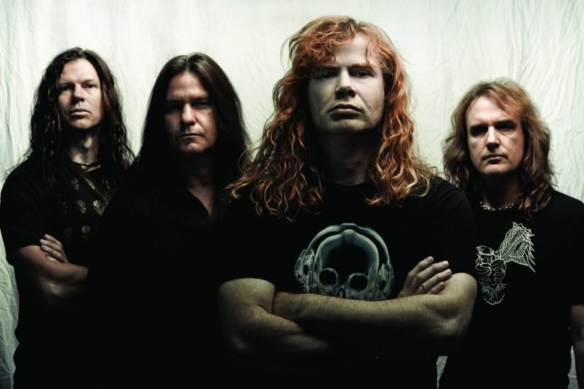 Preview wallpaper megadeth, print, t-shirts, hair, rockers 1920x1080