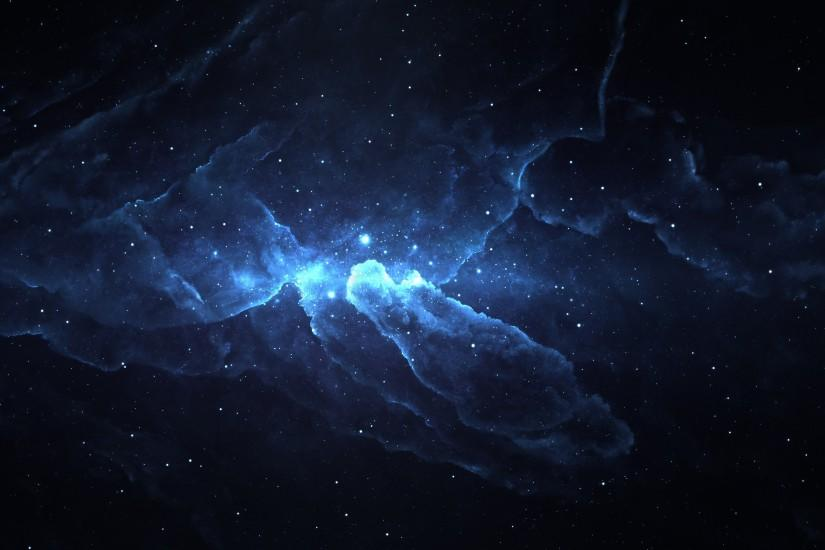 Blue Nebula Photoshop 4K Ultra HD