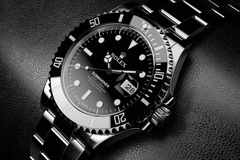 titanium watch rolex black silver elegant black leather