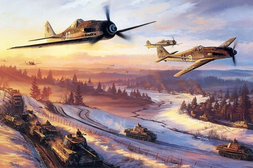 Download Wallpaper · Back. paintings aircraft war world war ii ...