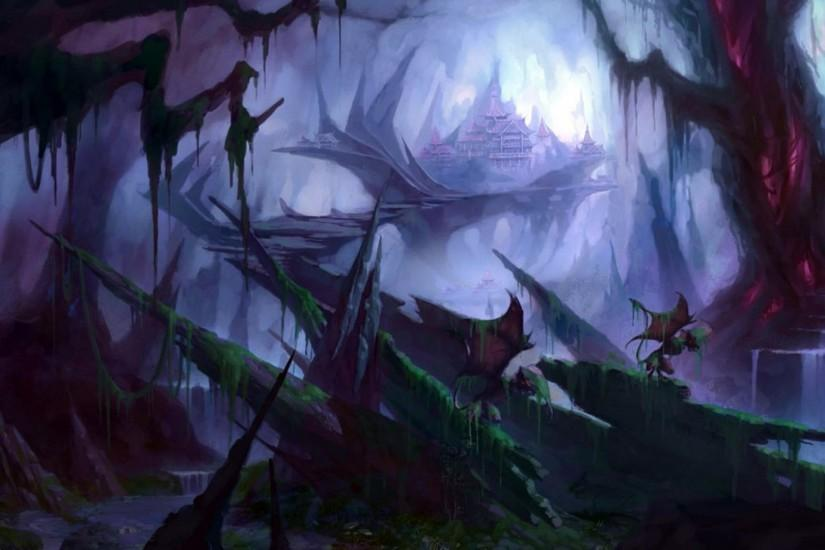 Dark Cave Kingdom HD Desktop Background wallpaper free