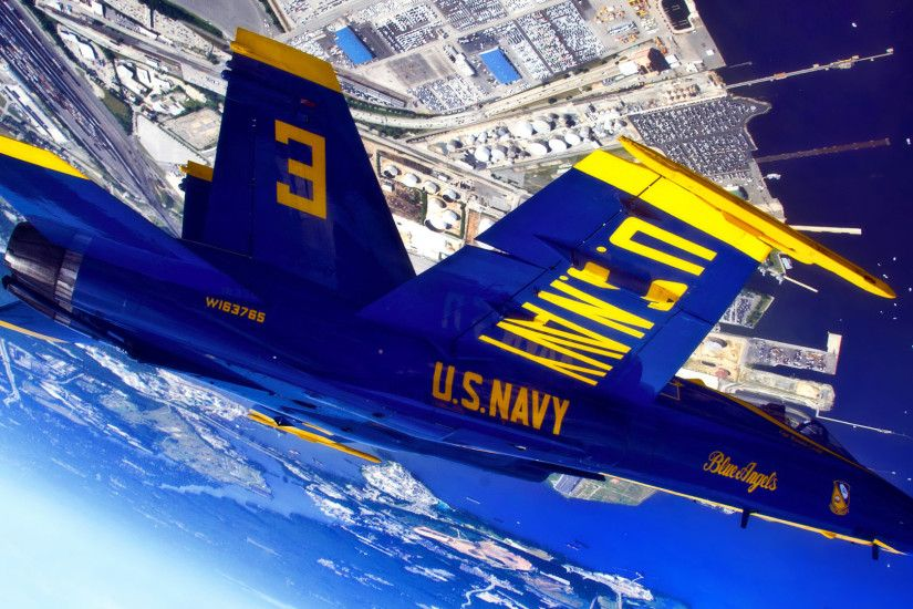 US Navy Blue Angels - Inverted view 1920x1080 wallpaper