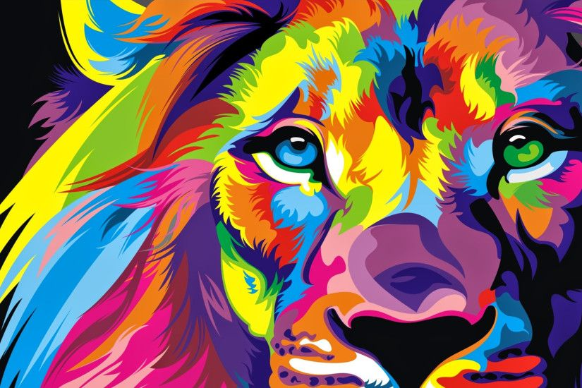 Lion Colorful Artwork