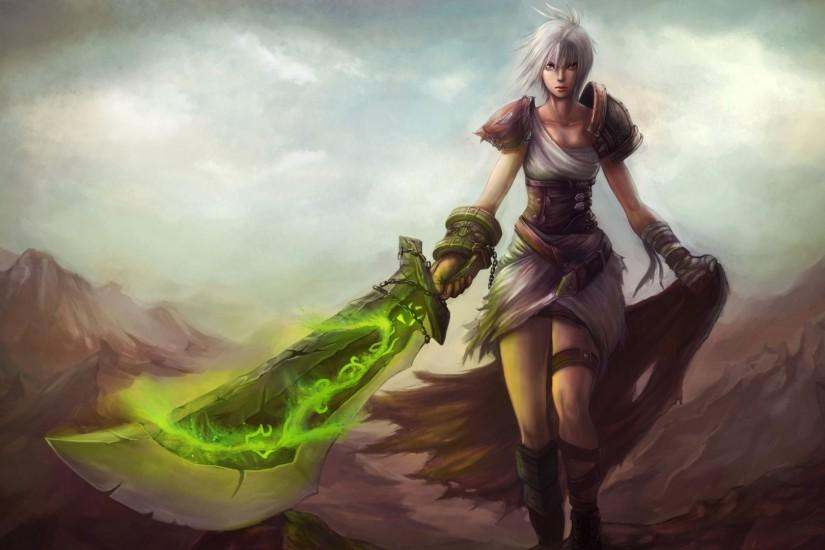 Riven Wallpaper League of Legends champion wallpaper. Find more HD LoL  desktop backgrounds in our wallpapers gallery.