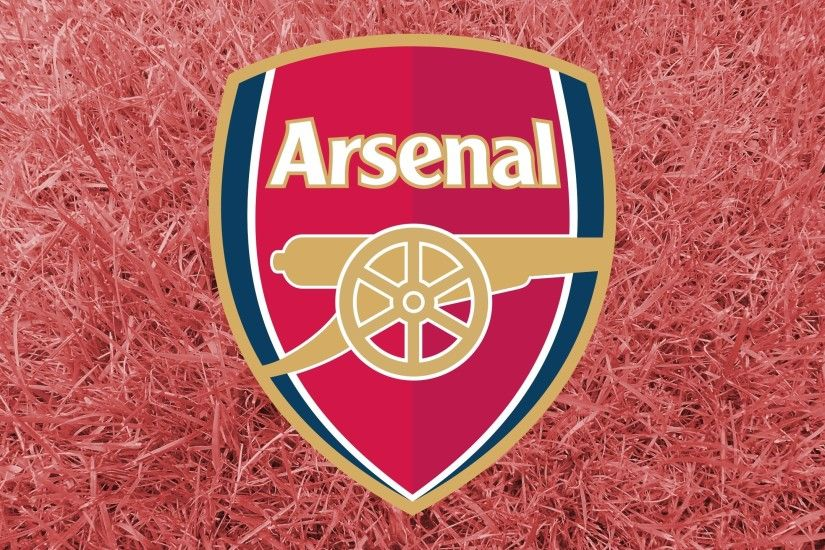 Arsenal logo and red grass
