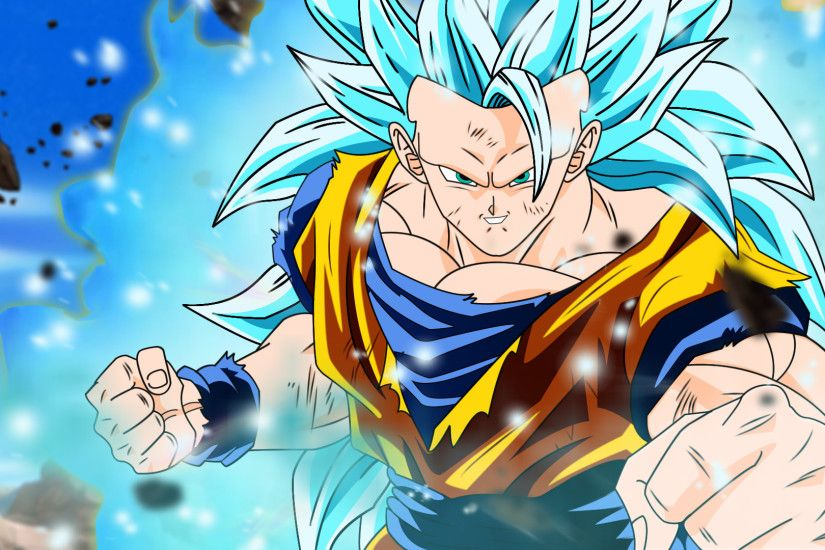 Goku SSJ3 BLUE WALLPAPER by DesertWiggle Goku SSJ3 BLUE WALLPAPER by  DesertWiggle