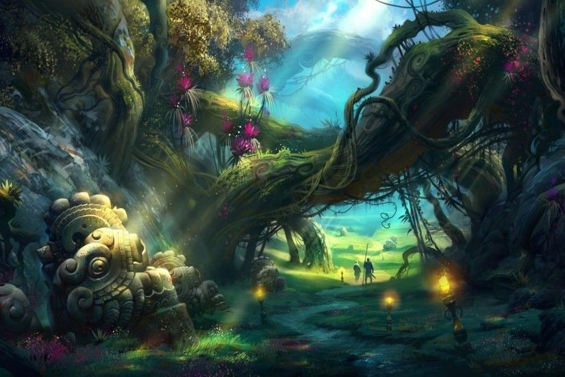 Enchanted Forest Wallpaper Hd Images For Iphone Fantasy Environment