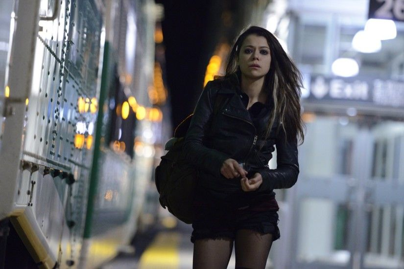 The opening scene to Orphan Black, featuring Tatiana Maslany as Sarah  Manning