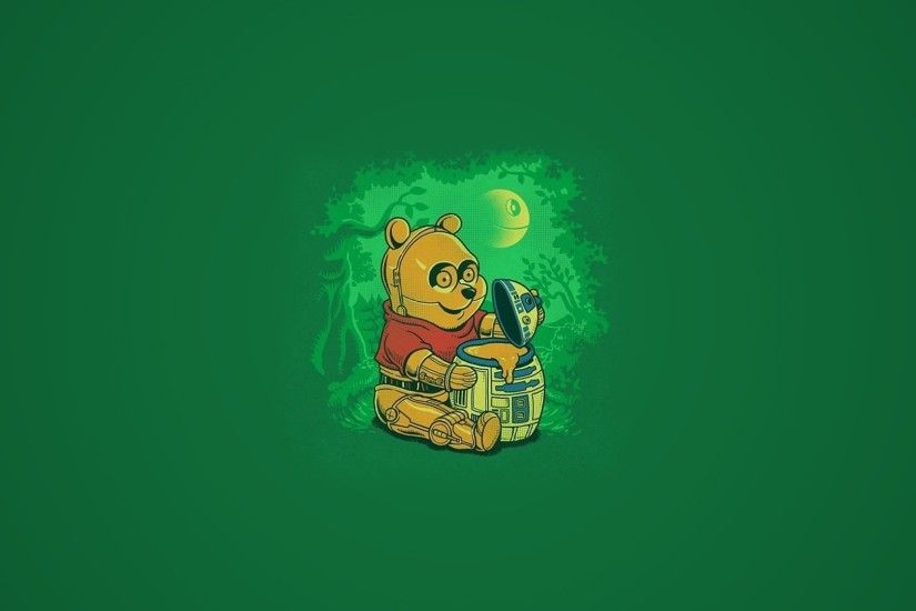 Bears C3PO Death Star Honey Minimalistic R2D2 Robots Wars Winnie The Pooh