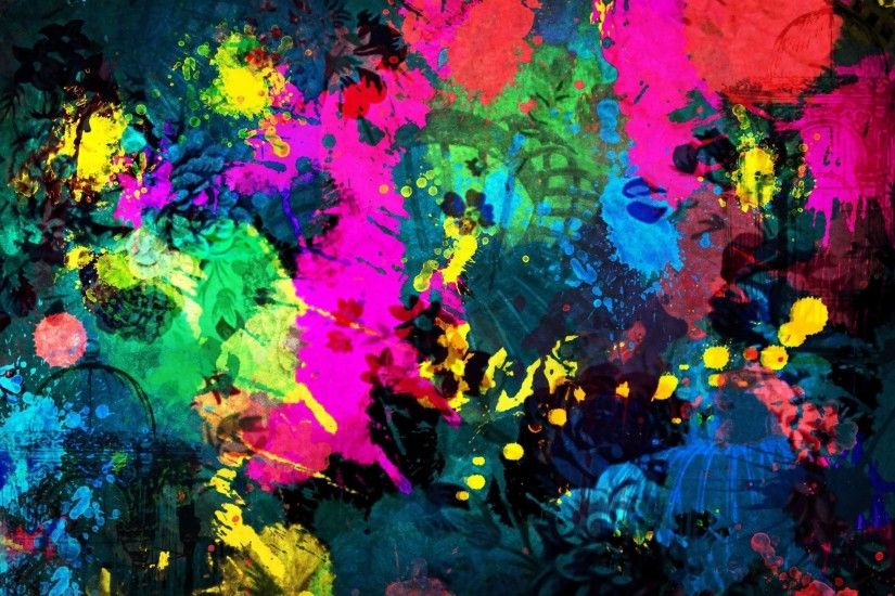 Paint splatter wallpaper - Abstract wallpapers - #18804