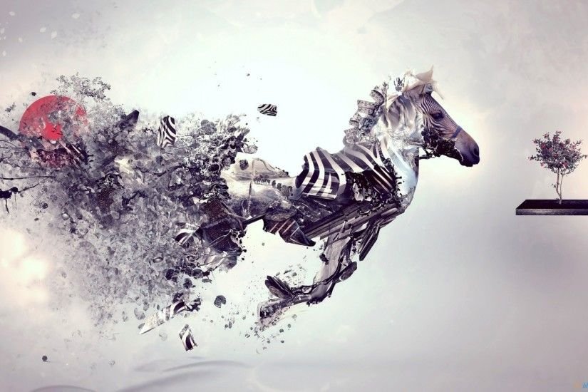 Surreal Zebra HD Desktop wallpaper, images and photos