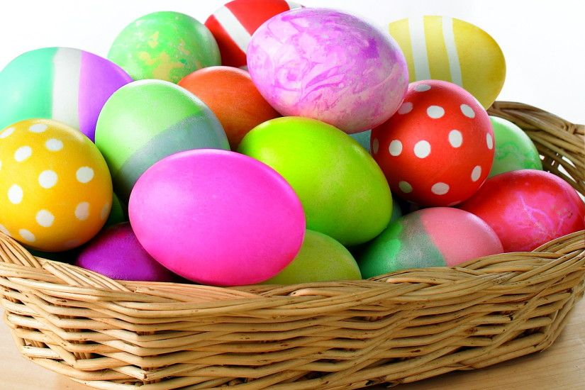Easter colorful eggs desktop free wallpapers