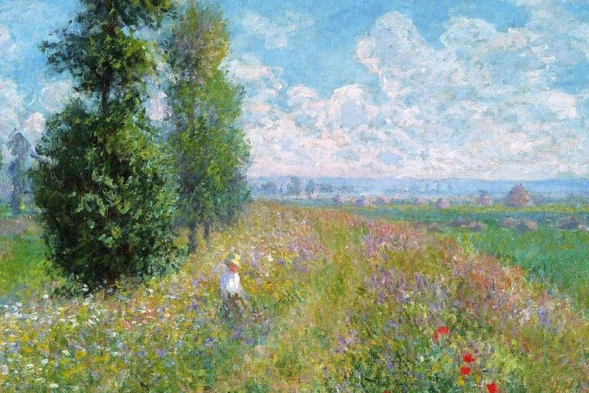 Pin Claude Monet Wallpapers Art Fine Paintings 1920x1080 on Pinterest