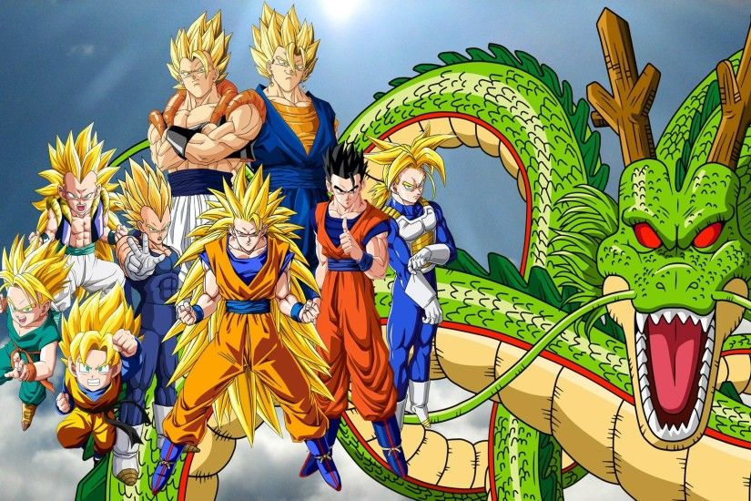 DBZ - Super Saiyan family 1920x1200 wallpaper