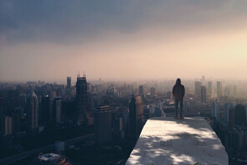 Free stock photo of city, man, person, skyline
