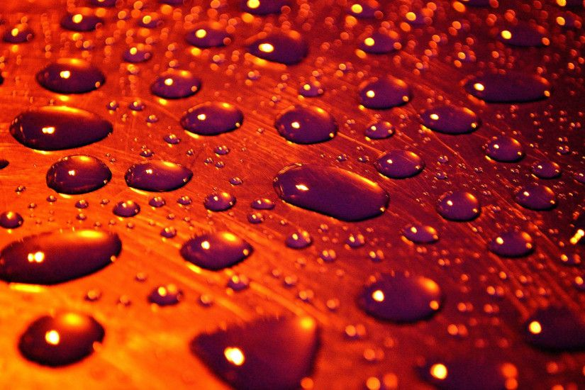 Photography - Water Drop Psychedelic Wallpaper