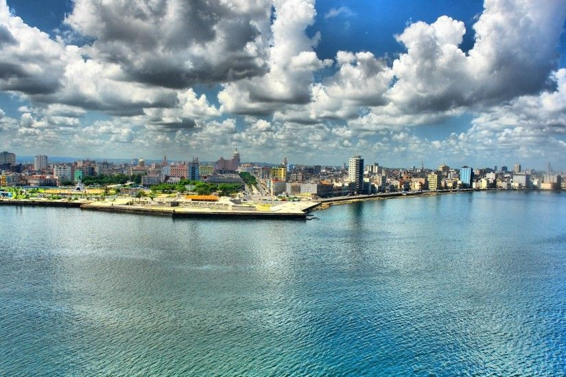 Preview wallpaper havana, hdr, cuba, embankment 1920x1080