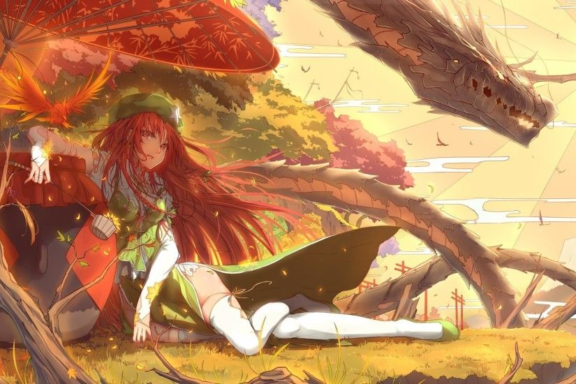 anime Girls, Anime, Touhou, Hong Meiling, Dragon Wallpapers HD / Desktop  and Mobile Backgrounds