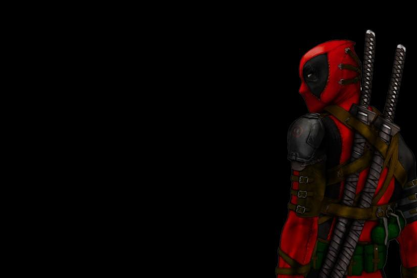Deadpool Movie Wallpaper black BAckground