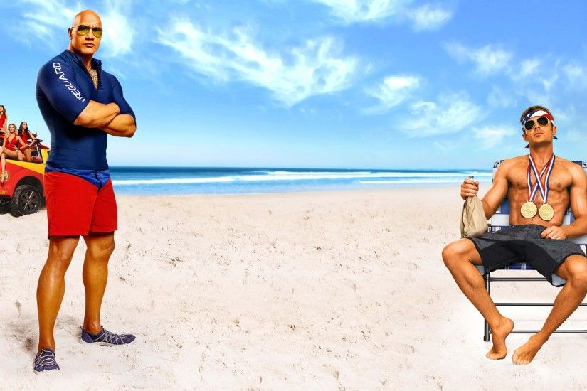 Baywatch 2017 Dwayne Johnson & Zac Efron 3840x2160 wallpaper