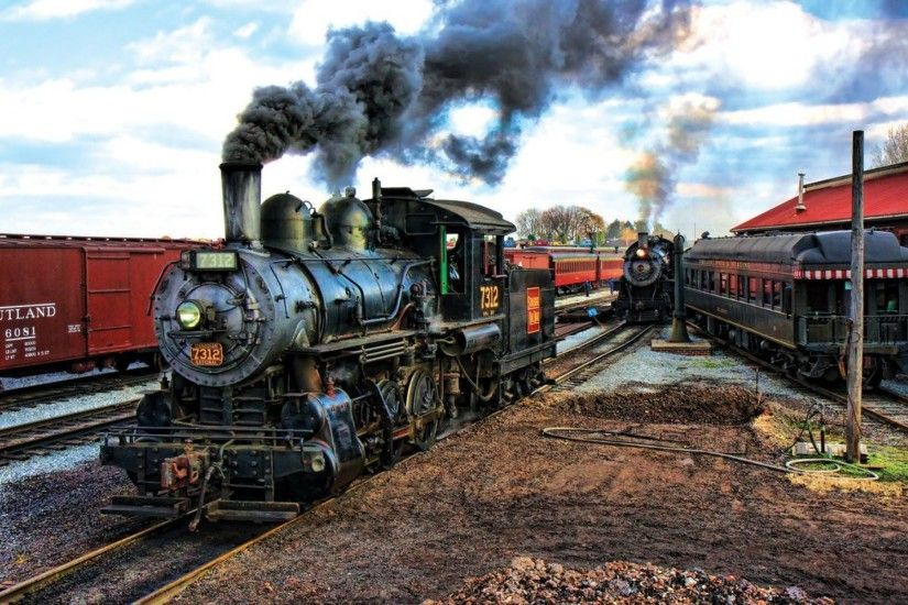 train, Vintage, Steam Locomotive Wallpapers HD / Desktop and Mobile  Backgrounds