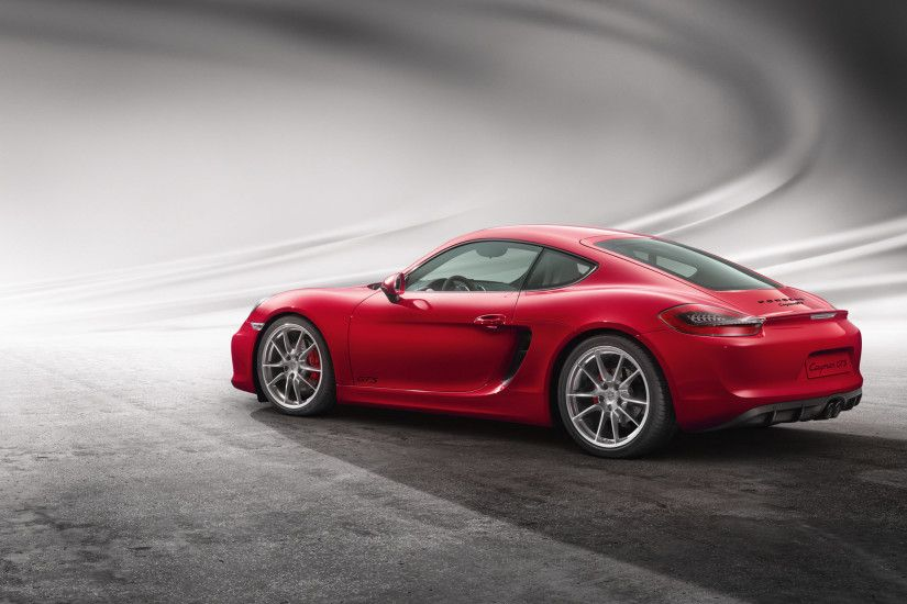 Preview wallpaper porsche, cayman, gts, red, side view 3840x2160