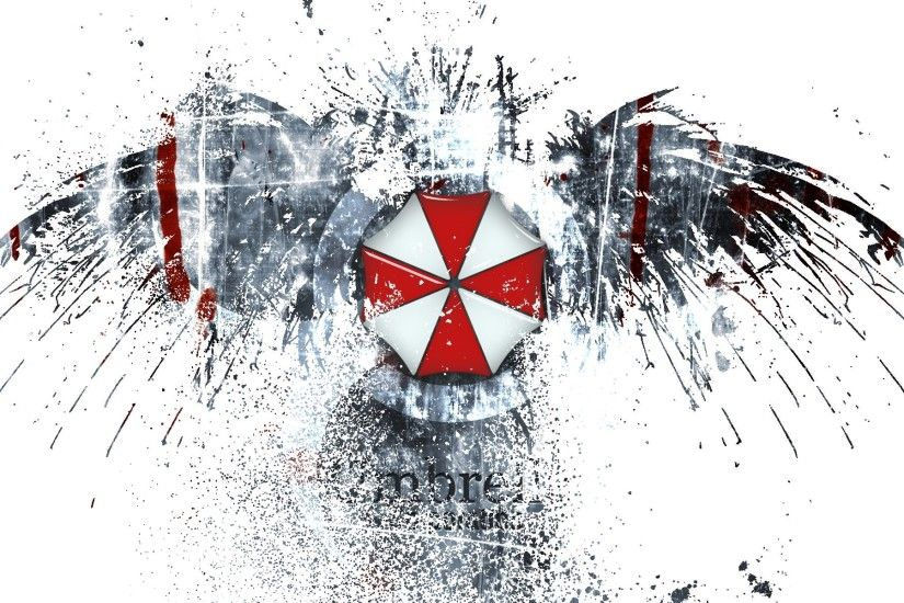 Video games movies resident evil eagles umbrella corp logos 1920x1200  wallpaper