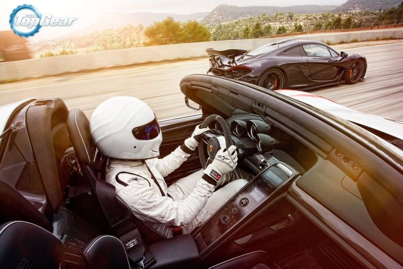 mclaren p1 porsche spider speed sun supercars top gear stig racer